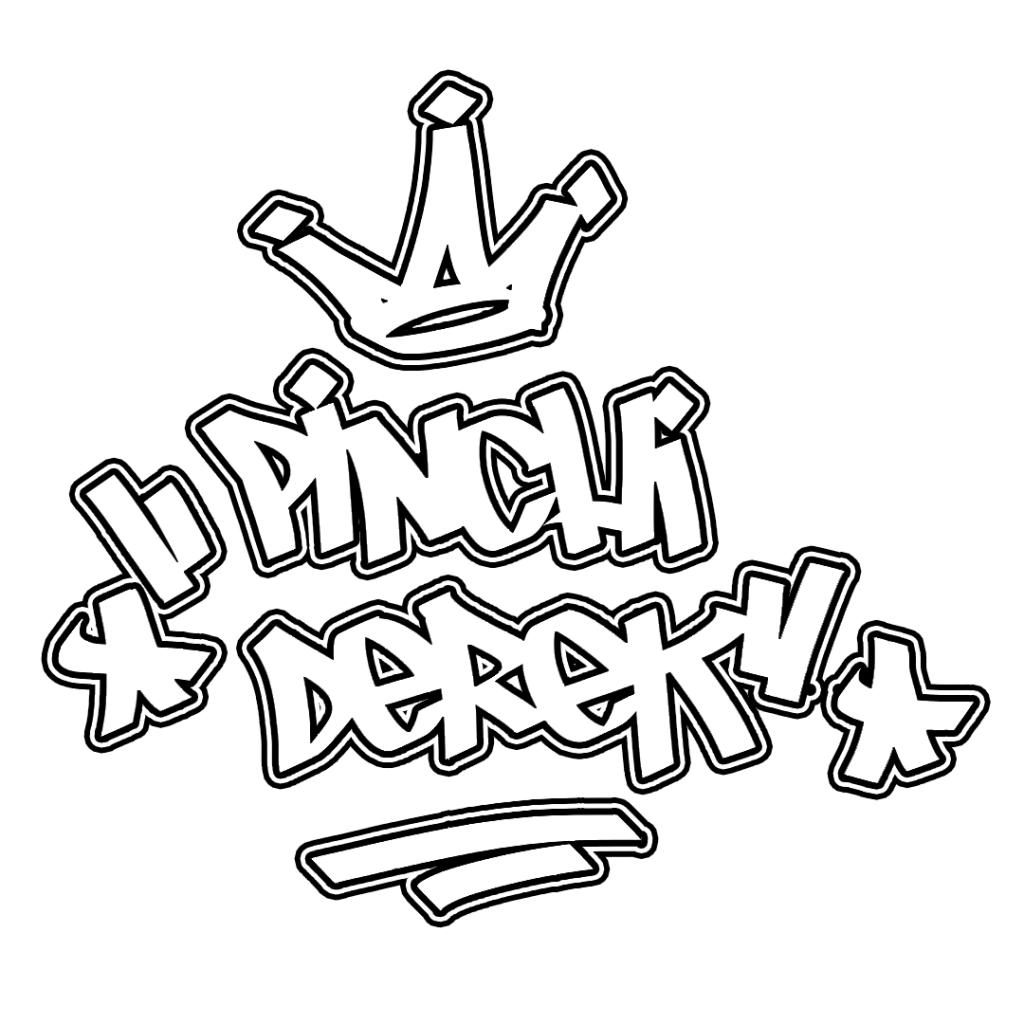 pinchi derek graffiti outline