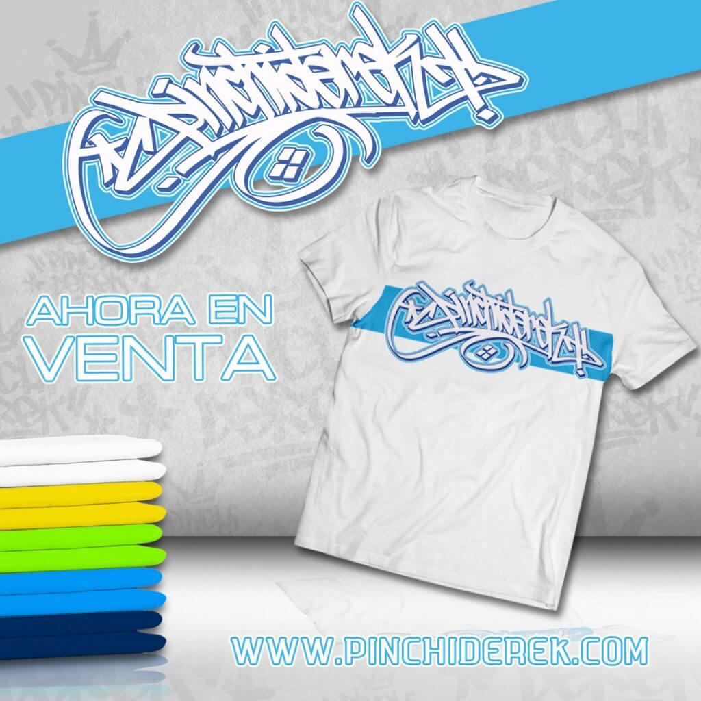 blue graffiti outline shirt