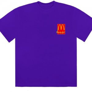 travis scott x mcdonalds action figure tshirt purple 1
