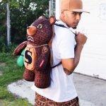 sprayground baller money gold chain bear backpack 6