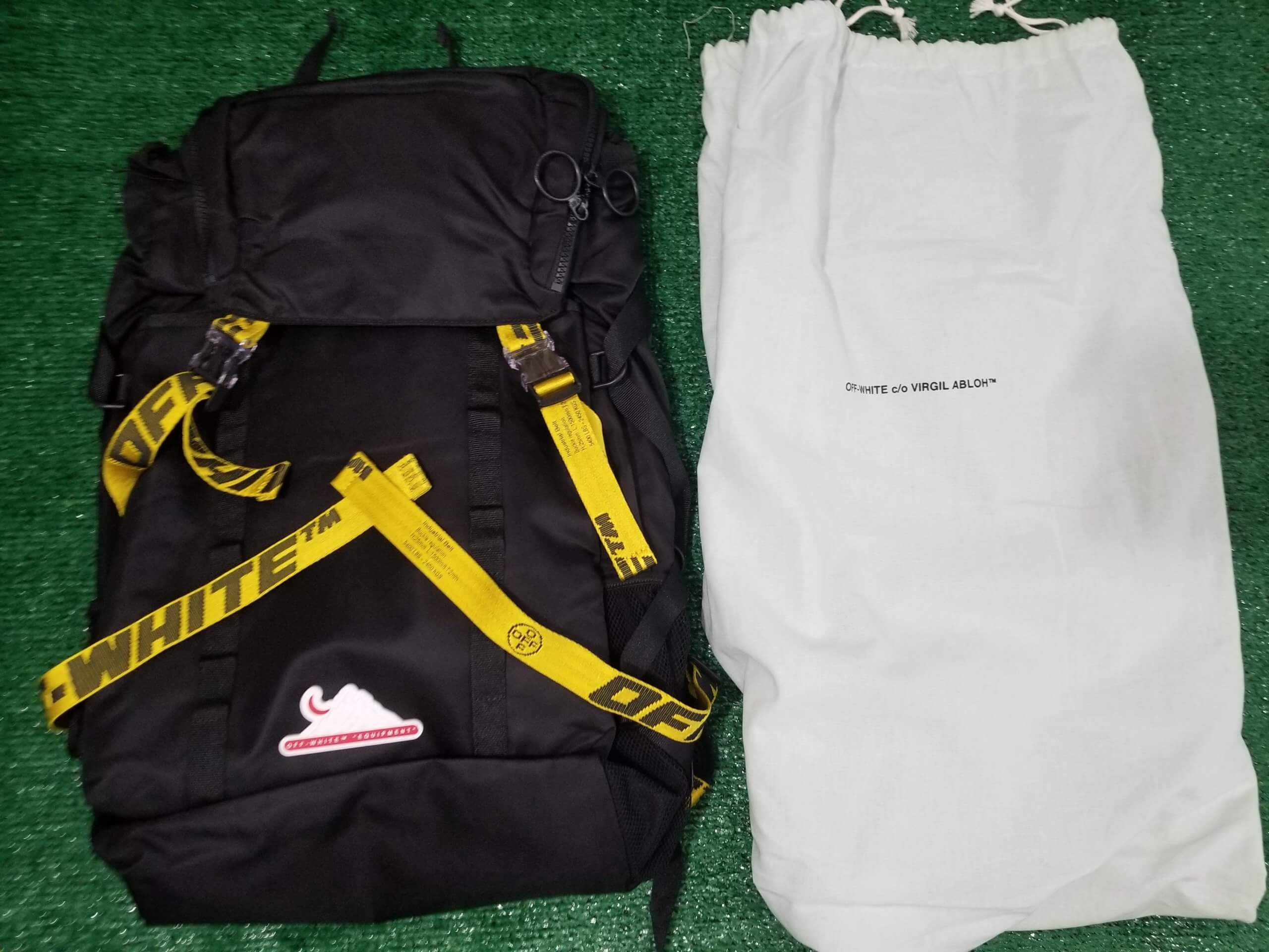 offwhite black backpack