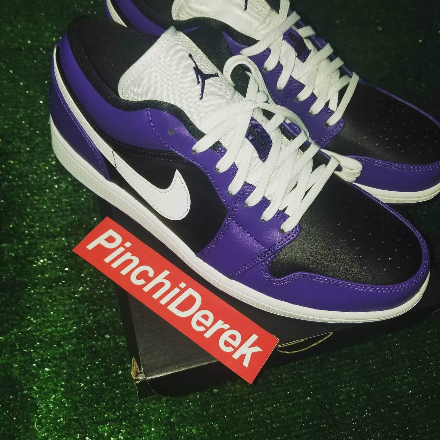 Nike Air Jordan 1 Low Purple Black 100% AUTHENTIC With Receipt Available Sizes 9, 9.5, 10. 10.5