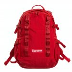 supreme red backpack