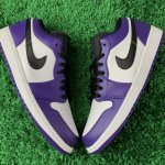 nike air jordan low purple white 3