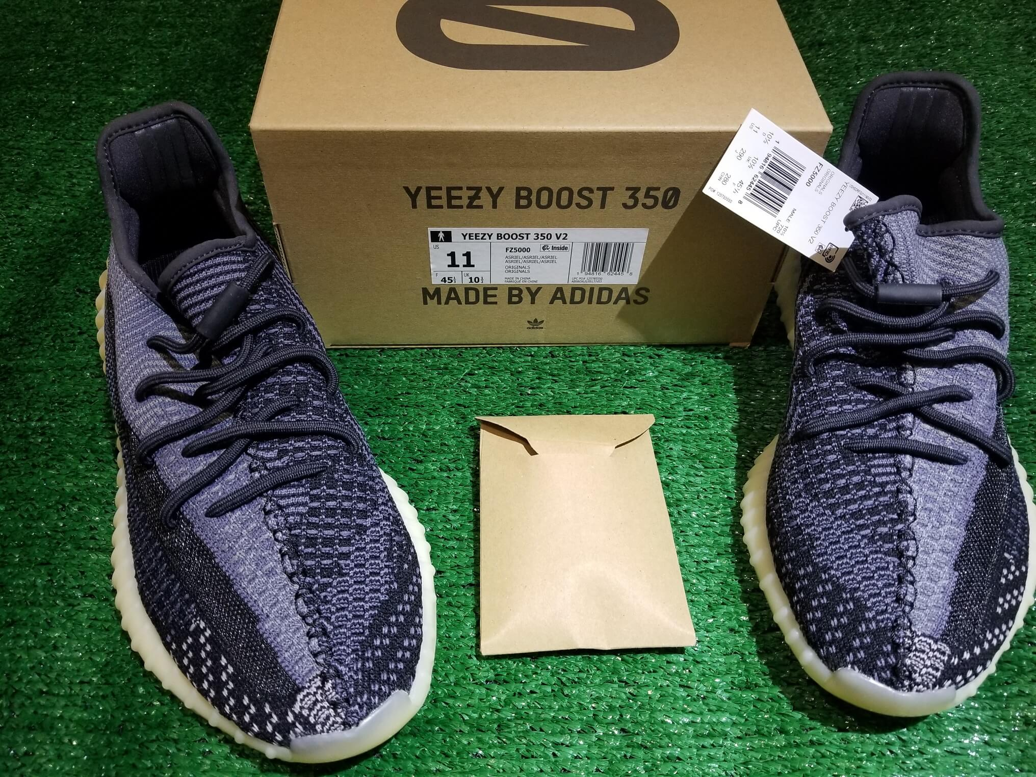 Adidas Yeezy Boost V2 Carbon 100% AUTHENTIC With Receipt Mens Size 11