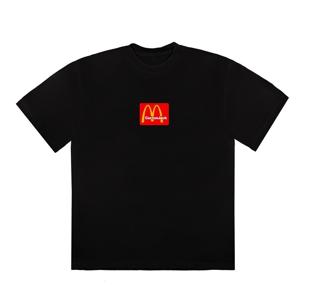 travis scott x mcdonalds logo tshirt 1