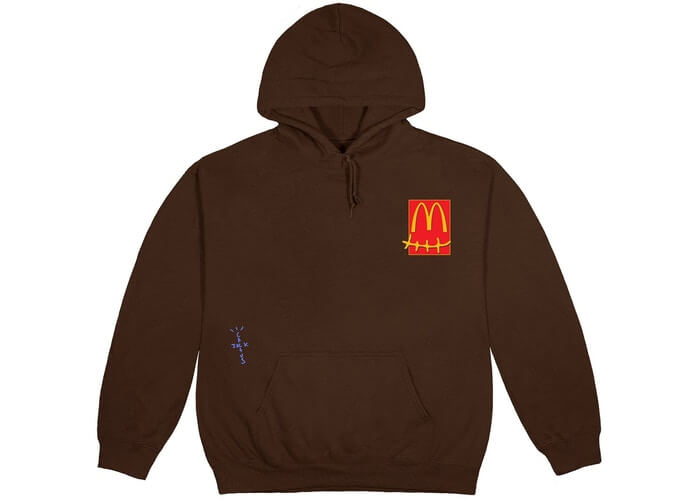 Travis Scott X McDonald's Cactus Jack Hoodie Brown Color 1