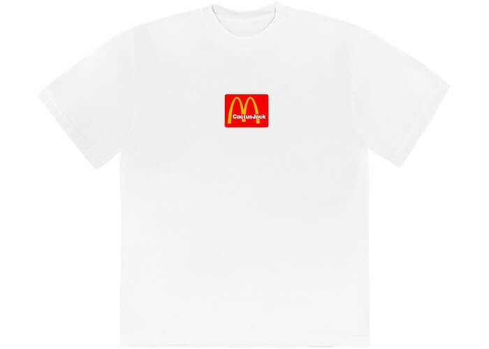 Travis Scott X Mcdonalds Logo Tshirt Large Size White Color